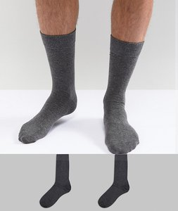 Read more about Selected homme socks 2 pack - grey grey