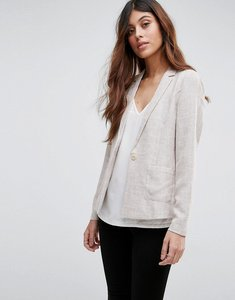 Read more about Vero moda textured blazer - oatmeal