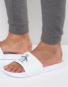 Read more about Original penguin slider flip flops - white