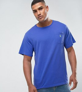 Read more about Polo ralph lauren big tall logo pocket t-shirt in liberty blue - liberty