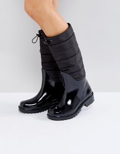 Read more about Asos game changer padded wellies - black