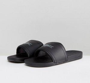 Read more about Lacoste fraisier croc slider flip flops - black