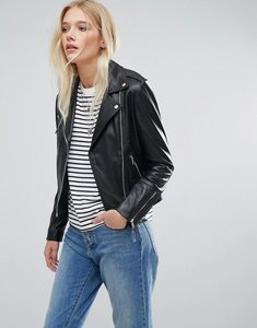 Read more about Lab leather biker jacket - black