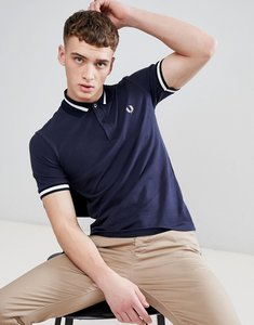 Read more about Fred perry reissues single tipped polo in navy - 797
