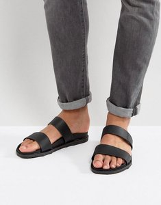 Read more about Call it spring ricoberht double strap sandals in black - black