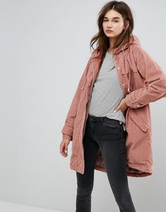 Read more about Asos cord parka in pink - pale pink