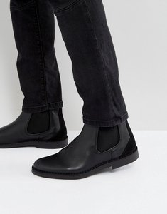 Read more about Selected homme royce leather chelsea boots in black - black