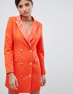 Read more about Missguided gold button tux dress - orange