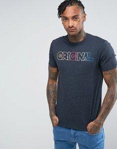 Read more about Original penguin t-shirt rainbow original logo slim fit in navy marl - dark sapphire