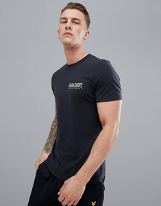 Read more about Lyle scott fitness pendle small logo t-shirt in black - black