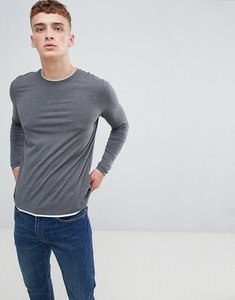 Read more about Esprit long sleeve t-shirt with double layer neck - grey 020
