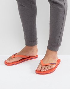 Read more about Jack jones logo flip flops - grey