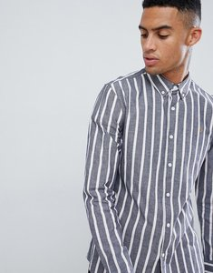 Read more about Farah croker stripe shirt in navy - navy