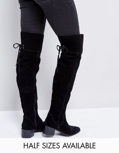 Read more about Asos kobra suede over the knee boots - black suede
