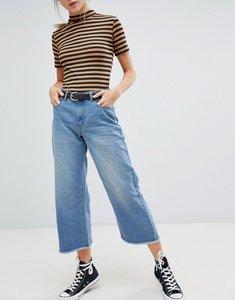 Read more about Daisy street wide leg denim skater jeans - mid wash denim