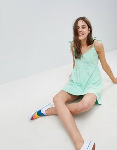 Read more about Asos design mini smock sundress with tie straps - mint