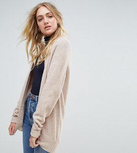 Read more about Asos tall chunky knit cardigan in wool mix - oatmeal