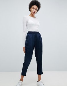 Read more about Selected cropped trouser - navy