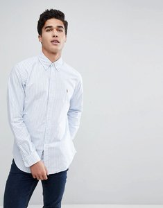 Read more about Polo ralph lauren stripe oxford shirt button down collar custom regular fit multi player in blue - b