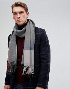 Read more about Esprit check scarf in navy - 405 dk blue