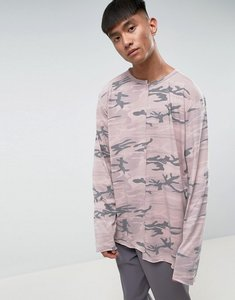 Read more about Mennace long sleeve t-shirt with splicing in desert camo - camo