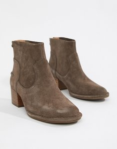 Read more about Ugg bandara taupe suede heeled ankle boots - taupe suede