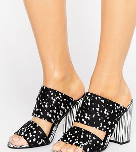 Read more about The march strappy heeled mules - mix print