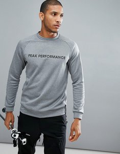 Read more about Peak performance goldeck crew neck logo sweat in grey - m08 grey mel