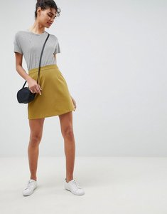Read more about Asos design tailored a-line mini skirt - olive
