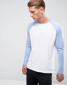 Read more about Asos contrast raglan long sleeve - white