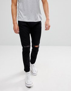 Read more about Esprit skinny fit jeans in black with distressed - wash 910