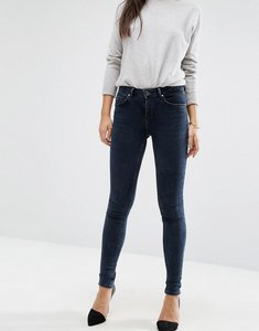 Read more about Asos lisbon mid rise jeans in mississippi wash - dark wash blue