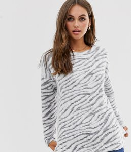 Read more about New look zebra print jumper in grey pattern