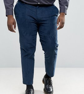 Read more about Asos plus skinny crop smart trousers in teal cord - teal