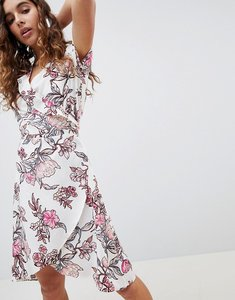 Read more about B young floral printed wrap dress - pink print