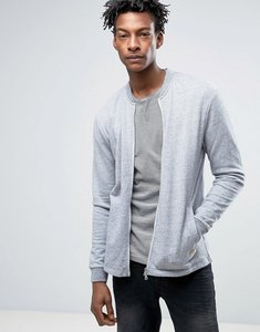 Read more about Minimum grenola sweat bomber in grey melange - faded denim mel