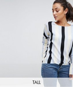 Read more about Noisy may tall stripe blouse with frill detail - multi