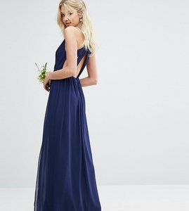 Read more about Tfnc pleated maxi bridesmaid dress with back detail - navy