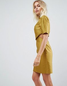 Read more about Asos two piece grown on neck mini dress - lime