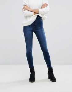Read more about Dr denim solitaire high rise skinny jean - worn dark blue
