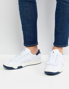 feeed15150b39 Read more about Polo ralph lauren performance court 100 trainers leather  mesh mix in white navy