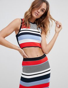 Read more about Tommy hilfiger knitted print crop - white black multi
