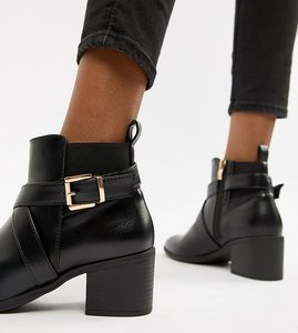 Read more about Truffle collection heeled ankle boots - black