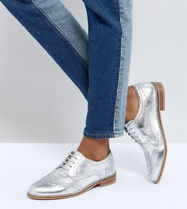 Read more about Asos mojito leather brogues - silver