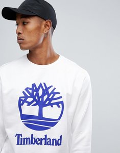 Read more about Timberland crew sweatshirt stacked logo in white - white