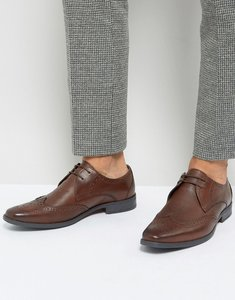 Read more about Silver street smart brogues in milled brown letaher - brown