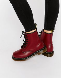 Read more about Dr martens cherry red smooth 8-eye boots - cherry red
