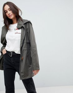 Read more about Jdy hooded parka jacket - dusty olive