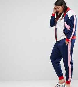 Read more about Asos curve track pant with colour block panels co-ord - multi