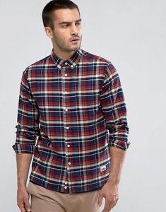 Read more about Penfield barhead check shirt buttondown flannel regular fit in red - red